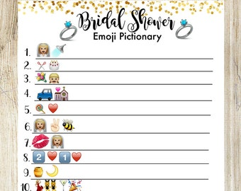 Amazing image intended for wedding emoji pictionary free printable