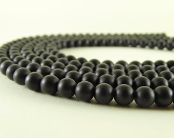 8 mm black matte onyx beads black beads matte stone frosted onyx frosted beads craft supply beads black onyx for the needle wholesale beads
