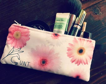 FLOWER POWER (*unt) Pencils - Makeup - Phone - whatever you want bag