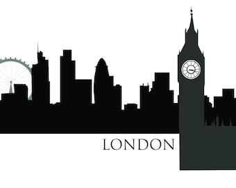 LONDON SKYLINE printable