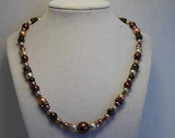 Autumn beaded necklace