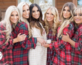MADE TO ORDER mismatched bridesmaids flannel set, vintage flannel shirts, oversized flannels, getting ready bridesmaid robes, rustic wedding