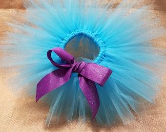 Ribbon Tutu, Girls Tutu, Newborn Tutu, Teal & Purple Tutu, Birthday Tutu, Toddler Tutu,Baby Tutu, Glitter Tutu, Baby Tutu, Customized Tutu