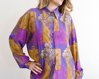 Vintage 80's Abstract Shirt
