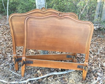 SOLD!!! Matching Pair of Twin French Provincial Headboards