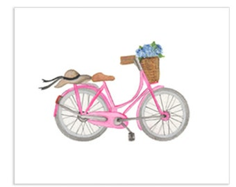 Bicycle Series - Summer Bicycle Art Print