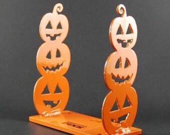 Powder Coated Steel Pumpkin Letter Holder Sculpture