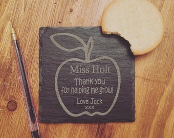 Teacher Thank You Slate Coaster