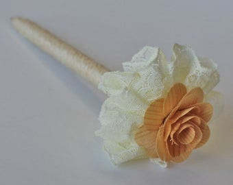 Guest Book Pen, Flower Pen, Wedding Pen, Signing Pen, Rustic Pen