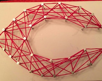 Cincinnati Reds String Art
