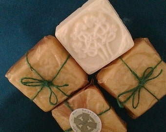 Celtic Design Mint Bergamot Goat's Milk Soaps (4)