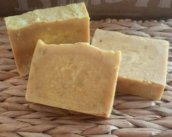 Handcrafted Raw Goat Milk Soap **Lemon**