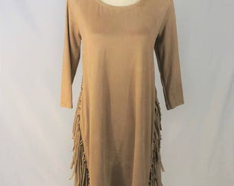 Suede, Fringe Dress