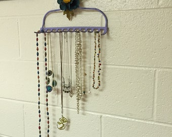 Old Rake Repurposed  Necklace / Jewelry Holder