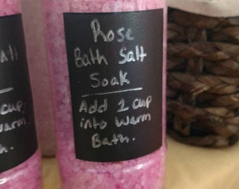 Rose bath salt soak