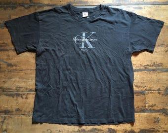 90s CK Calvin Klein Jeans Basic Logo T-Shirt