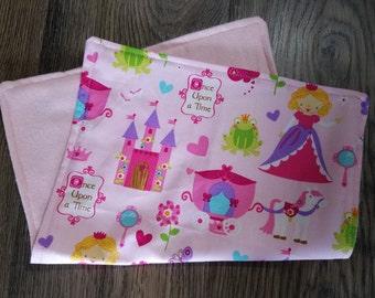 Super Soft Princess Baby Burp Cloths