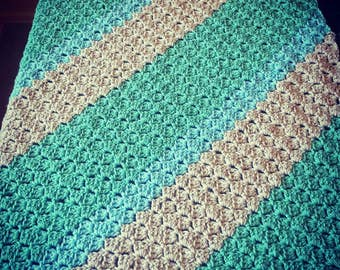 Baby blanket. Made to order with your pick of three colors.