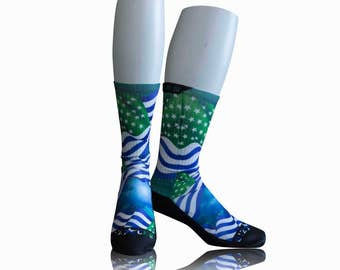 Handmade Sublimated Socks style Humboltd