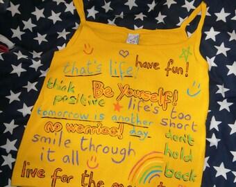 Crayon positive phrases Yellow