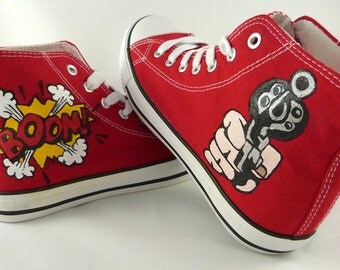 Hand-painted Pop Art shoes
