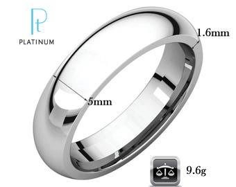 platinum wedding ring for men 5mm court 9.6g