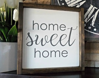 Home Sweet Home | 12x12 | rustic decor | wood sign | farmhouse | wall decor