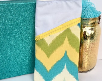 iPhone//Android Zippered Smartphone Pouch//D Ring//Belt Loop//Chevron//Accessories