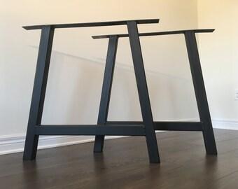 A-Frame Bench Legs - Metal (table legs, metal legs, diy, A legs, A-Frame legs, coffee table legs, kitchen table legs, legs)