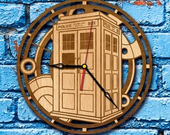 Doctor Who Gift Clock tardis box gift Clock doctor who wall art Clock dr who wall art tardis wall art doctor who love doctor who watch