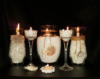 Beach themed candle set-FREE SHIPPING!