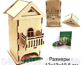 Tea House Box, Tea Box, wood tea box