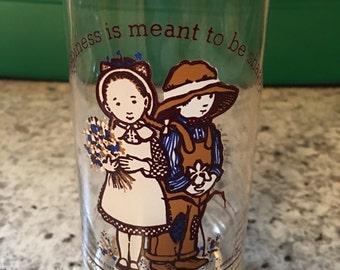 Vintage Hollie Hobbie Glass