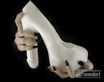 Fuk-Shu : silicone art sculpture | high heel shoe art