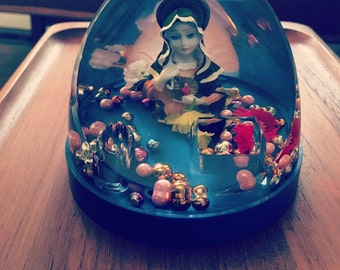 Virgin Mary Snow Globe