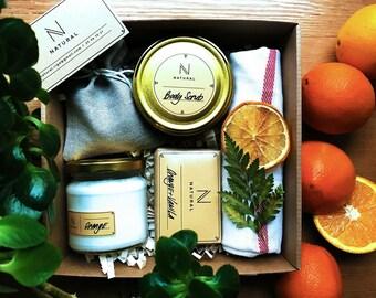 """Bath&Spa set, gift box """"Natural"""""""