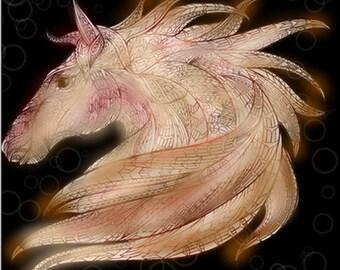 Tribal horse print