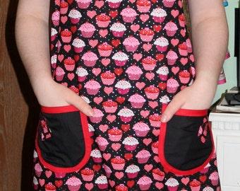 hearts apron