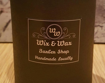 Jar Candle no Lid in Black Tube Gift Box. 100% Soy Wax. Scented.