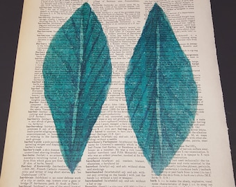 Vintage Dictionary Print - Two Leaves