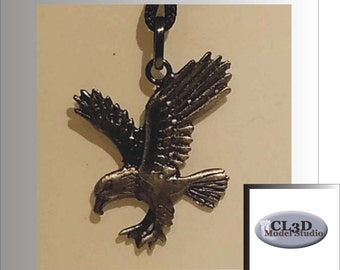 Antique 925 Silver Eagle pendant