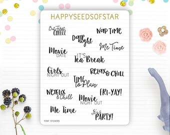 Planner Sticker - Assorted Fonts. Happy Day