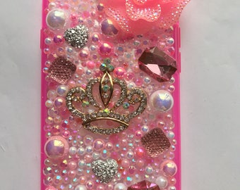 Pink sparkles iphone 7 case