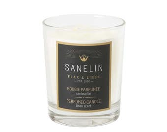Linen scent scented glass candle