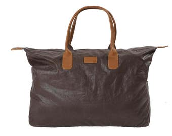 48 linen tote bag: Choco color