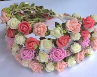 SALE, Baby headband, rose headband, flower headband, baby girl gift, baby shower gifts, baby headpiece, newborn props