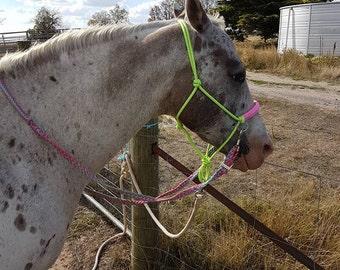 Bitless Bridle rope halter side pull FIT COB-FULL