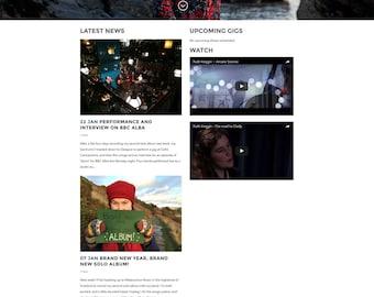 Musician/Performer/Artist/Personal/Actor Wordpress web design