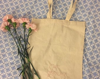 Hand Embroidered Tote bag, femme