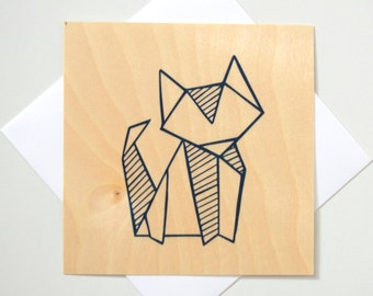 Greeting Card - TIMBER/ Origami Fox